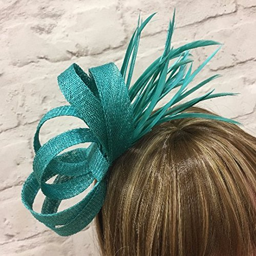 Image Unavailable. Image not available for. Colour  Jade green fascinator be5acda5c6f