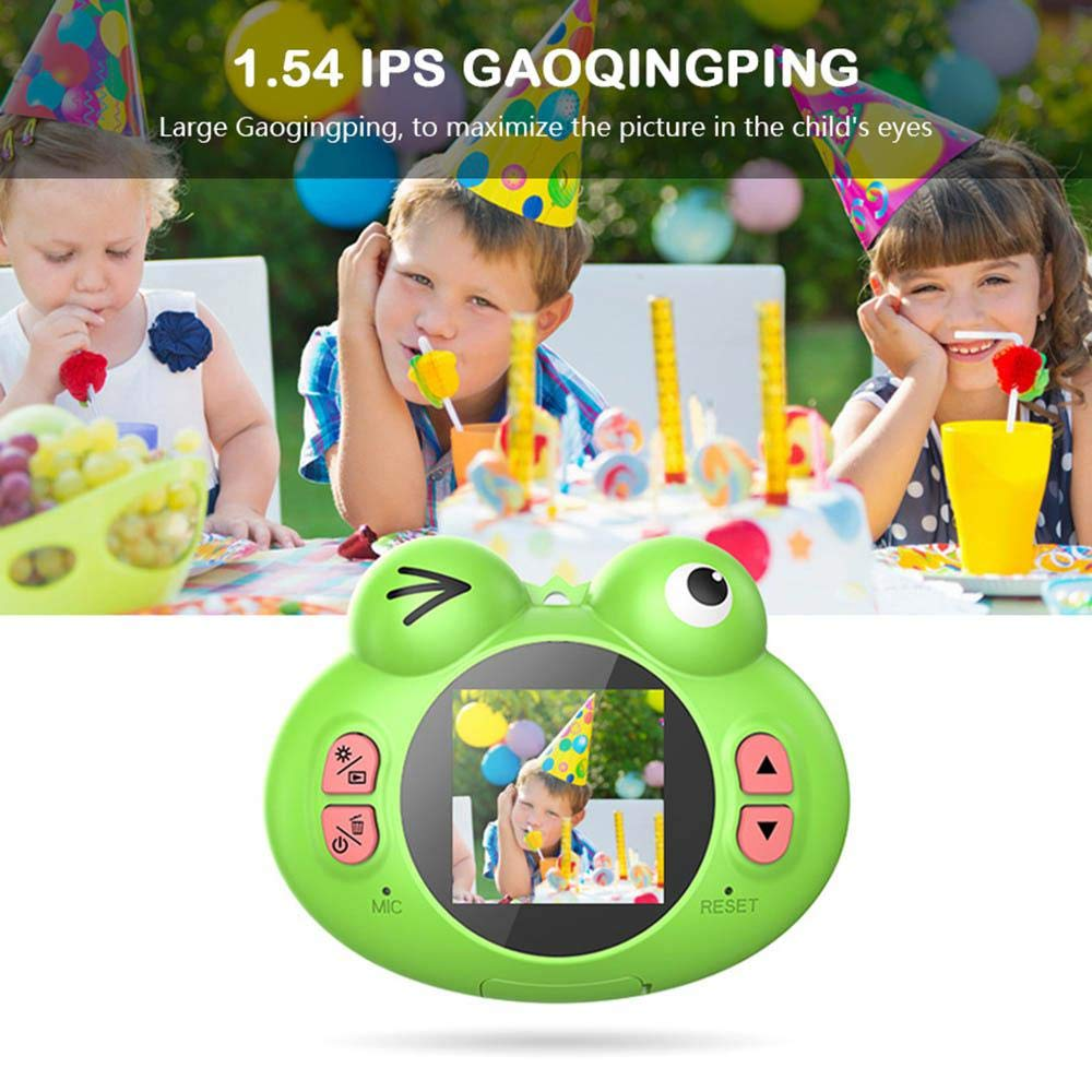 TEEPAO Child Camcorder, HD 1080P Frog Child Toy Camera with Neck Strap, Soft Silicone and Lightweight, Children Selfie Toy Camera for Boys and Girls by TEEPAO (Image #5)