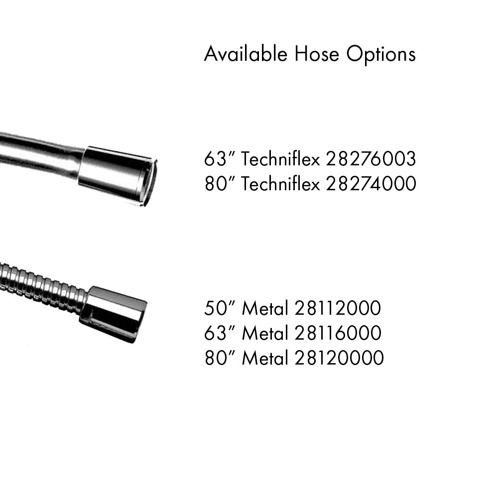 Chrome HG28504001 Hansgrohe 28504001 Raindance S 100 AIR 3-Jet Hand Shower