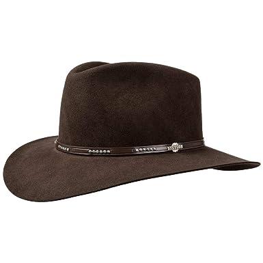 f24b728032fcd Stetson Llano 4X Fur Felt Western Hat Fur Felt Hat Felt Hat (62 cm - Dark  Brown)  Amazon.co.uk  Clothing