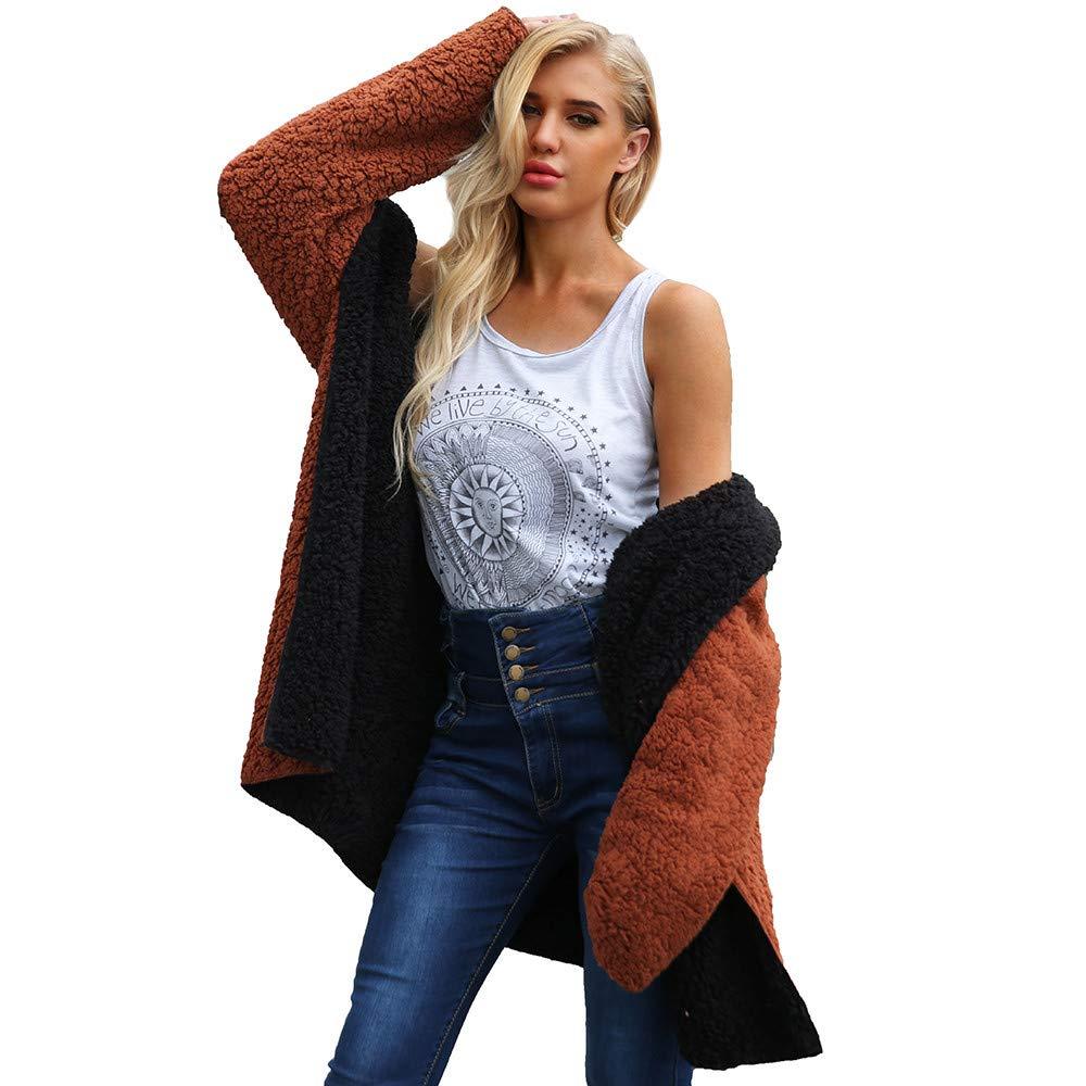 Seaintheson Women's Coats SWEATER レディース B07HKHBR91 Medium|ブラック ブラック Medium