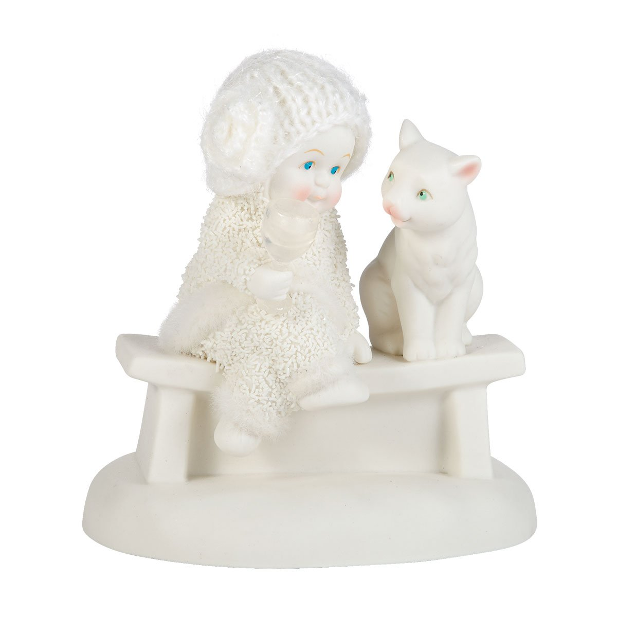 Department 56 Snowbabies Classics Kitty Cocktail Figurine, 3.75 inch
