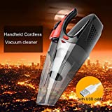 Auto Vacuum Cleaner REAK Handheld Cordless Vacuum cleaner for car and household, Dust collector with LED Light and HEPA Filter-Cyclonic Suction, Portable Wet/Dry Vacuum Dust Buster