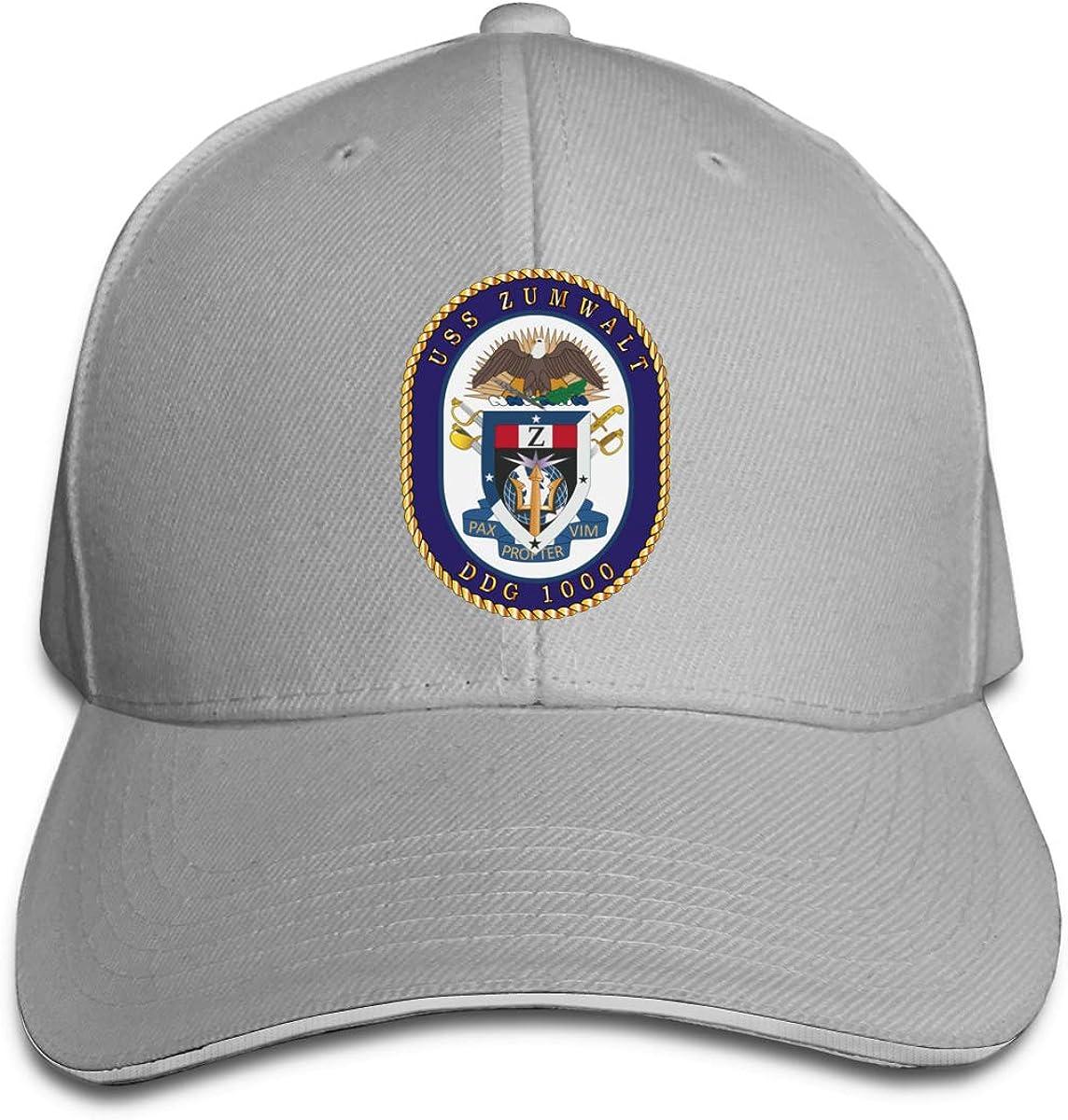 Navy USS Zumwalt DDG 1000 Wo Txt Unisex Adult Baseball Caps Adjustable Sandwich Caps Jeans Caps Adjustable Denim Trucker Cap