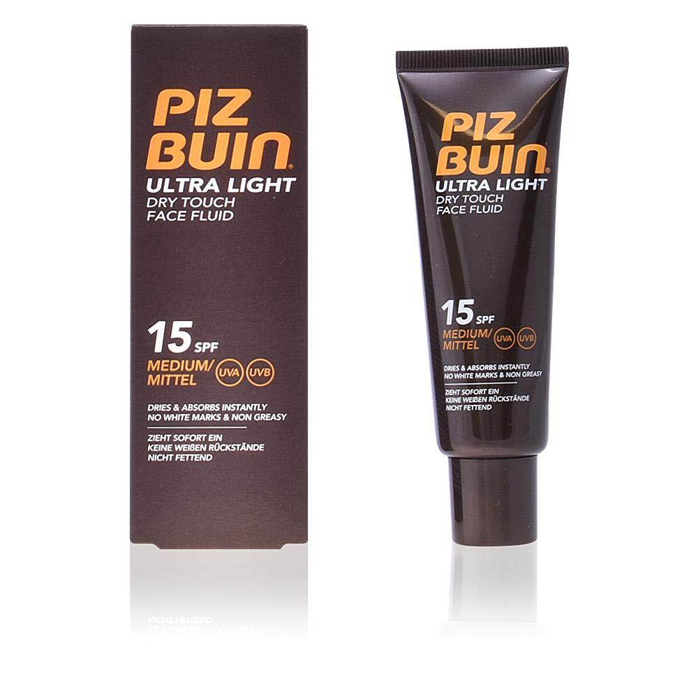 Piz Buin - Protección Solar, Ultra Light Dry Touch Fluido Solar Facial SPF 15 - Protección media Bote 50 ml
