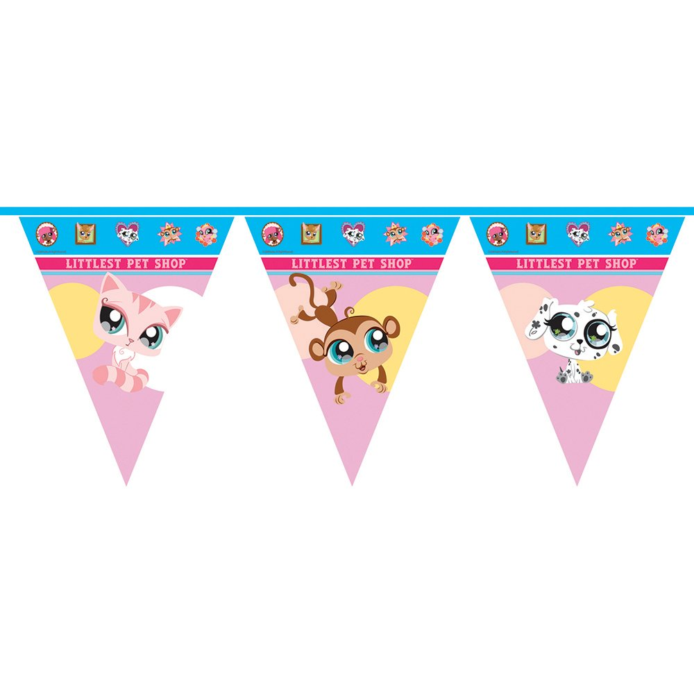 Unique Party 2.5m Littlest Pet Shop Bunting Flags: Amazon.co.uk ...