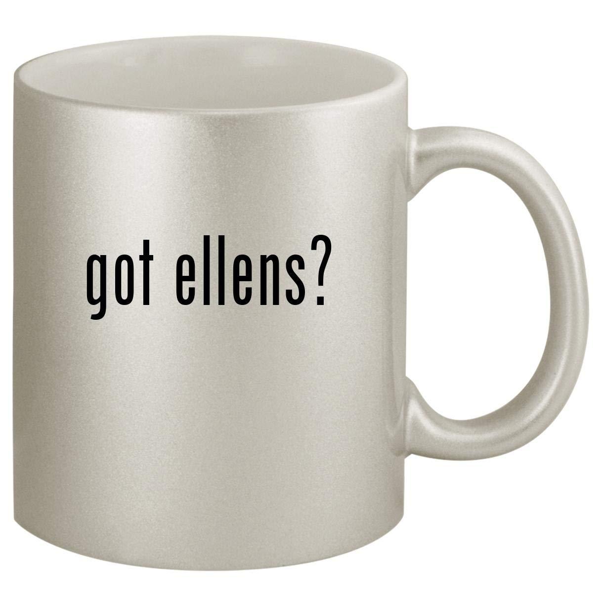 got ellens? - Ceramic 11oz Silver Coffee Mug, Silver