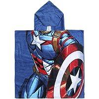 CERDÁ LIFE'S LITTLE MOMENTS 2200003877 Poncho Algodón Avengers Capitan America, Azul, 50x115cm