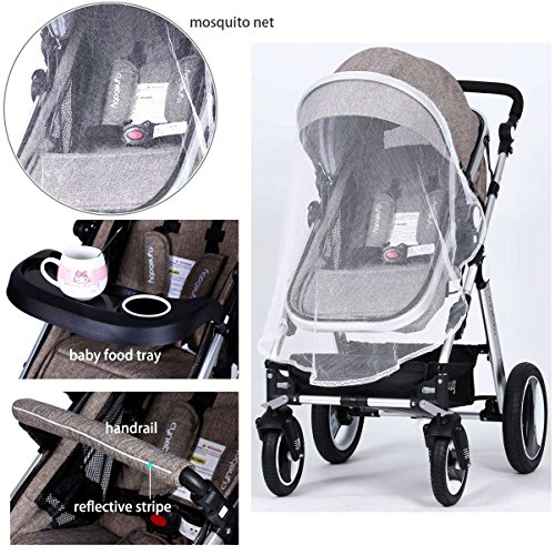 Infant Baby Stroller Toddler Carriage - Cynebaby Folding Pram Bassinet Strollers with Cup Holder (blue) by cynebaby (Image #8)