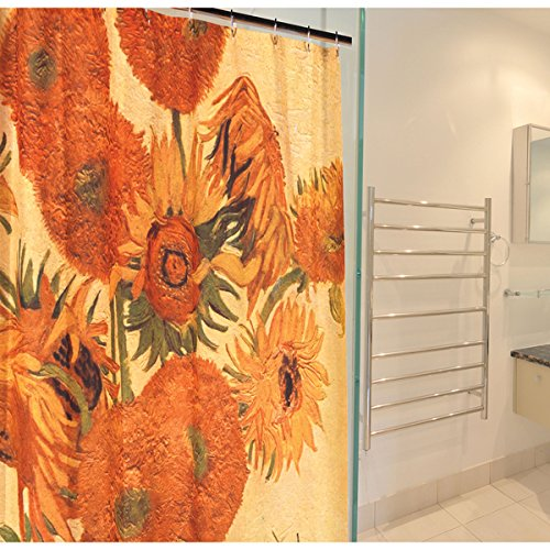 Carnation Home Fashions Vincent van Gogh's 'Sunflowers' Fabric Shower ()