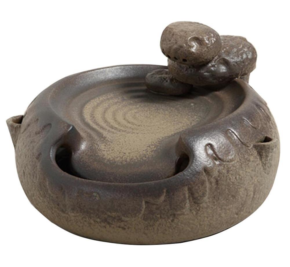 Creative Keramik Luftbefeuchter Feng Shui Runde Wasser Dekoration Wohnzimmer Büro Desktop kleine Wasserszene Bonsai , sea reef