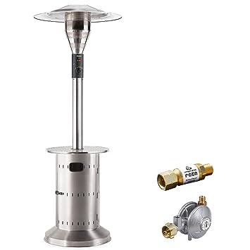 Calentador Enders Commercial – Estufa con seguridad Kit – Calentador de gas con regulación continua de