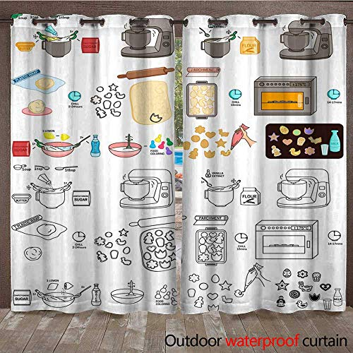 Patio Sheer Recipe Easter Cookies DIY Instruction Vector DIY Instruction Manual Including Sketch W108 x L84 ()
