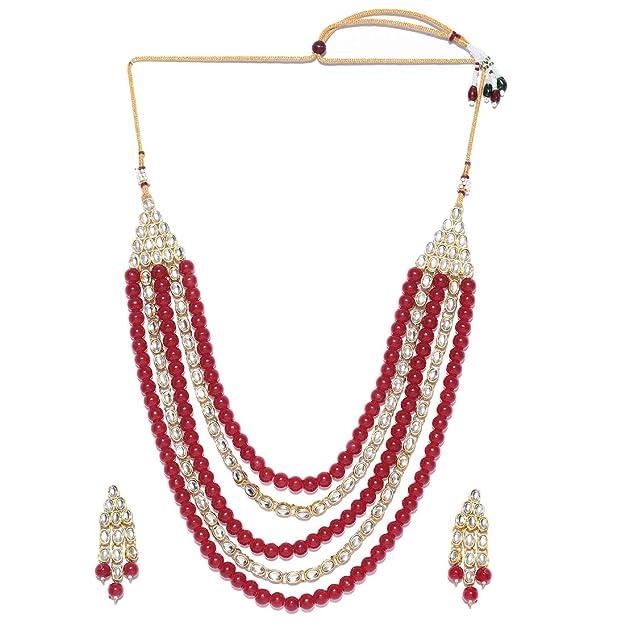 Collar de perlas étnicas de Bollywood, joyas festivas para mujeres y niñas