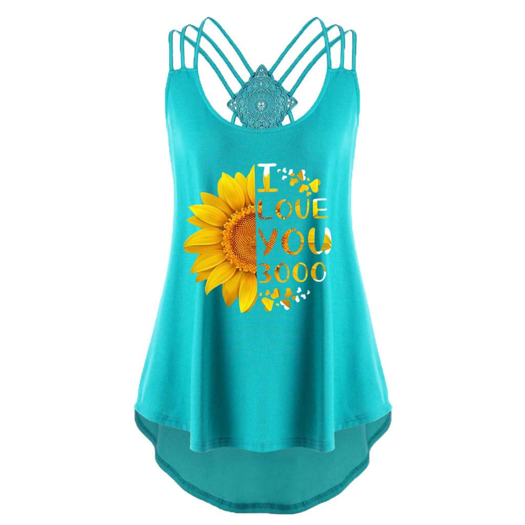 COOlCCI_Womens Clothing 〓Coolcci〓Womens Criss Cross Tank Tops Blouse Tops Vest Camisoles
