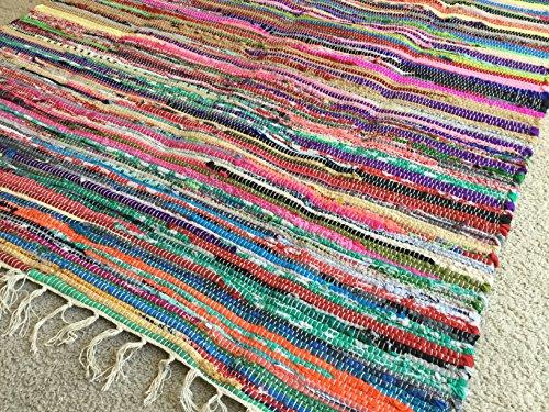 Rag rug, handwoven chindi (Rag Rug Swedish)