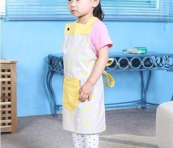 GAIHU versión coreana del precioso delantal para Niños Niño comiendo batas de algodón Kindergarten bebé pintura antiincrustante delantales (Color : #2): ...