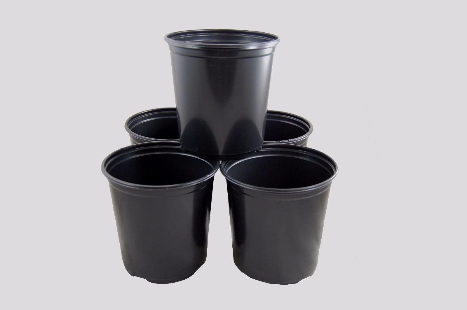 1 Gallon Plastic Nursery Pots - Garden Plant Flower Container Greenhouse,250