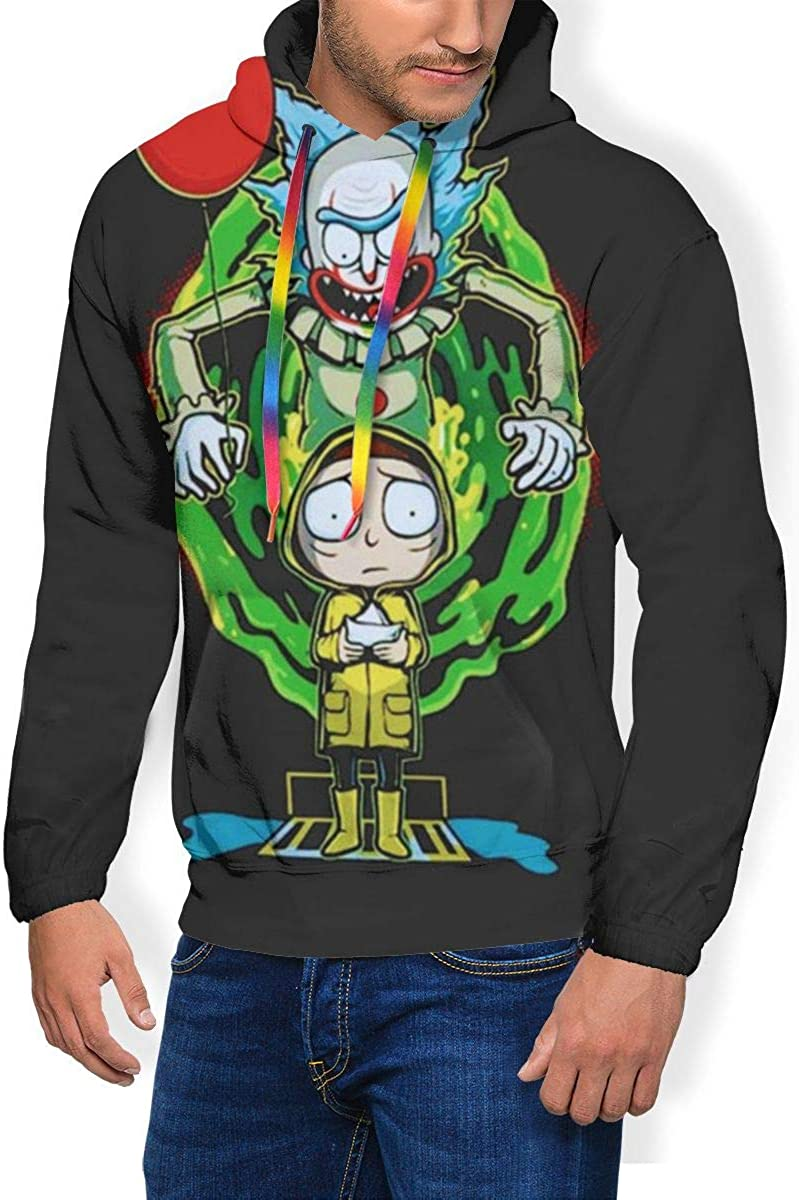 Rick And Morty Mens Hoodie Hoody Pullover Sports Tops Sweatshirt Sweater Jackets