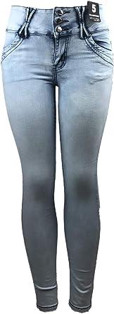 Amazon Com La Bonita Jeans Pantalones Vaqueros De Cintura Alta Para Mujer Tejido De Primera Calidad Blanqueado Azul Claro 9a749s Clothing