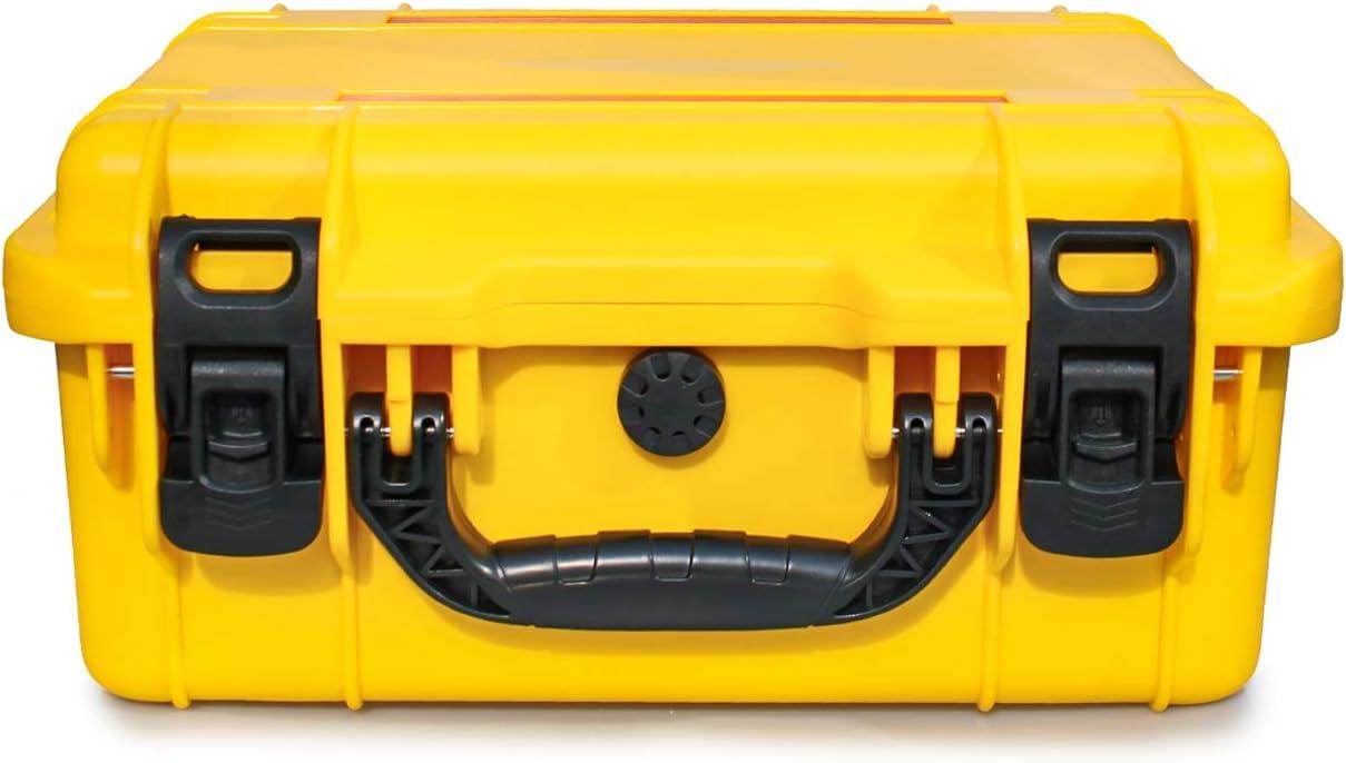 AxiGear Waterproof//Airtight Hard Case with DIY Customizable Foam Insert 17 x 13 x 8in Yellow