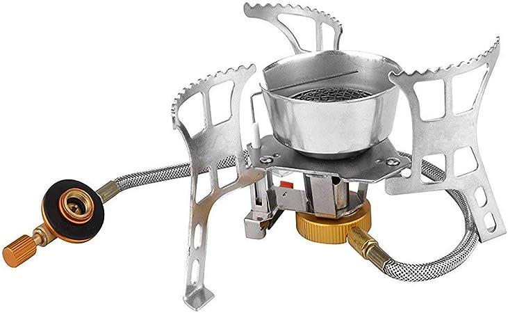 ouspots portátil Camp Gas estufa plegable cortavientos plegable al aire libre estufa de Camping encendido electrónico Split horno butano Gas Stove ...