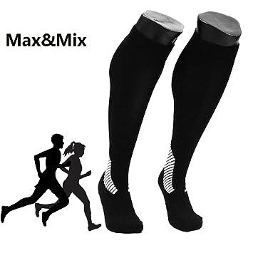 Max & Mix calcetines de compresión para hombres y mujeres, Marathon calcetines, mejor Graduado