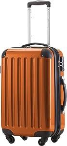 HAUPTSTADTKOFFER - Alex - Carry on luggage Suitcase Hardside Spinner Trolley Expandable 20¡° TSA Orange