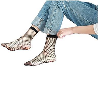 7c8c8c2ce66af Women's Fishnet Ankle High Socks Mesh Anklet Fish Net Short Socks at Amazon Women's  Clothing store: