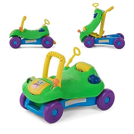 Baby Vivo Correpasillos Coche Andador Para Bebés Niños 2en1 Infantil Juguete Niño Multifuncional - Verde