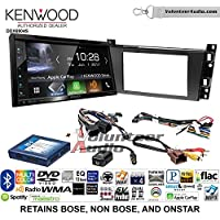 Volunteer Audio Kenwood Excelon DDX6904S Double Din Radio Install Kit with Satellite Bluetooth & HD Radio Fits 2006-2010 Cadillac DTS