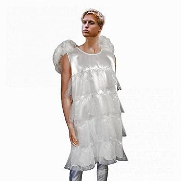 Herren Kostum Engel Gr L Mannerballett Kleid Weiss Fasching Karneval