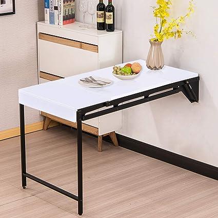 Mesa plegable deformada Mesa de comedor montada en la pared ...