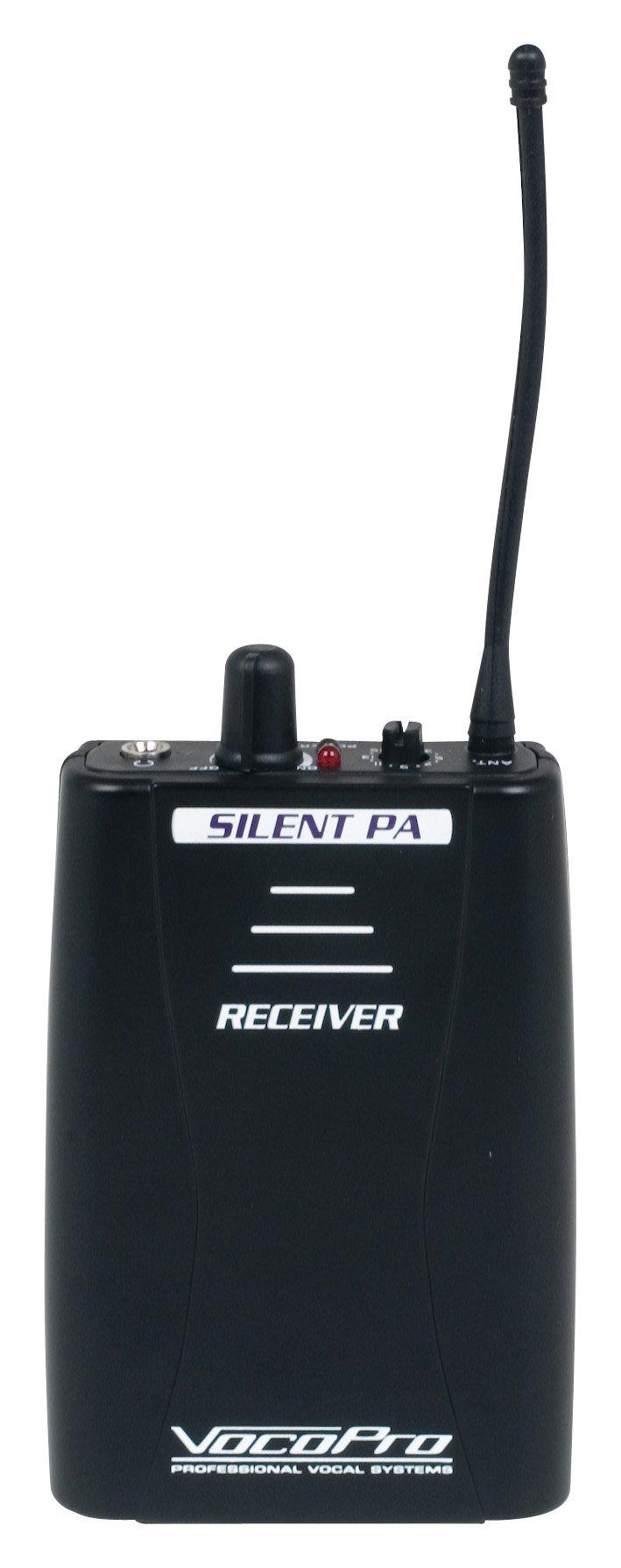 VocoPro, 16 Audio Broadcast System, black, 4.00 x 4.00 x 8.00 (SilentPA-RX) by VocoPro
