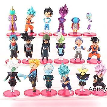 6 Pcs//Set Dragon Ball Super Vol.6 Gohan Goku Black Trunks Mai Zamasu PVC Figure