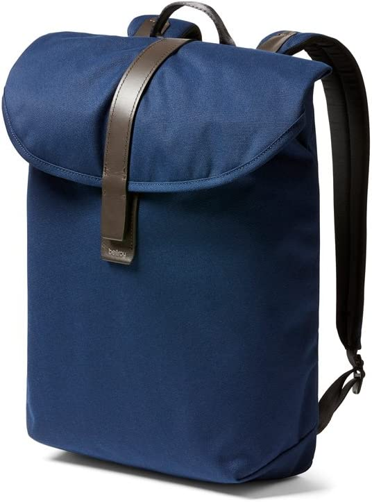 Bellroy Slim Backpack Compact Daypack, Holds Laptops Up to 15 Inches, Magnetic Strap Closure – Navy