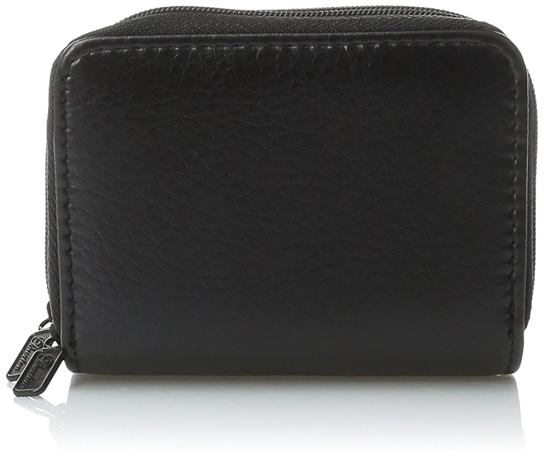 Buxton RFID Accordion Double Zippered Wizard Wallet Black