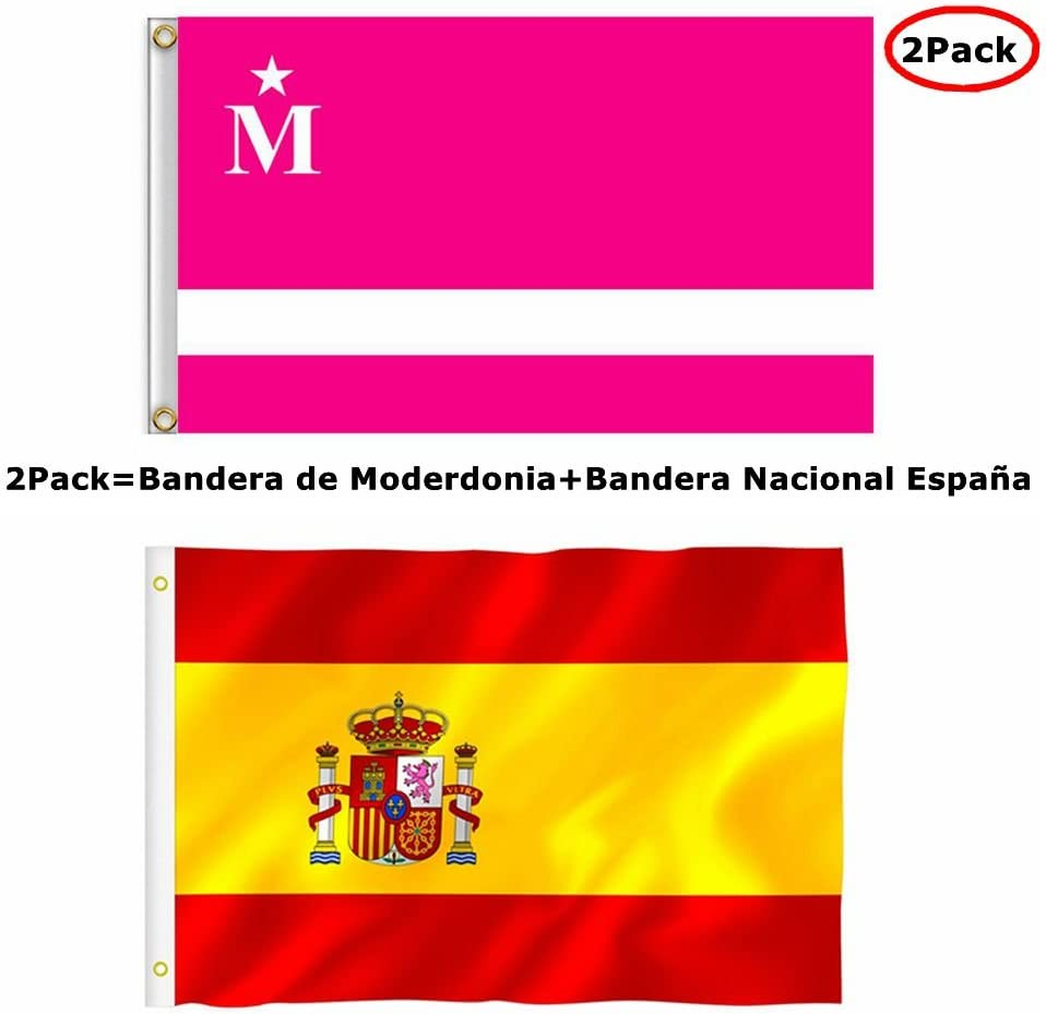 Bandera de Moderdonia del Programa La Vida Moderna Flag 90 cm x 150 cm Ojales: Amazon.es: Deportes y aire libre