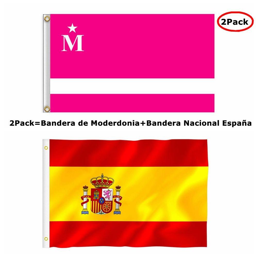 Bandera Nacional España 90 x 150 cm Flag: Amazon.es: Deportes y aire libre