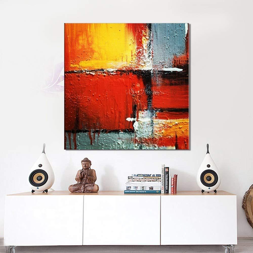 WHUI pintura al óleo Dibujado a mano pintura pintura mano al óleo para la decoración de la pared pintura abstracta en lienzo sin marco c46e9c