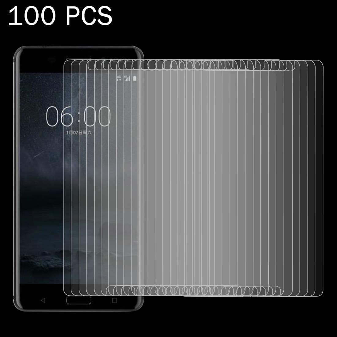 XHC Screen Protector Film 100 PCS for Nokia 6 0.26mm 9H Surface Hardness Explosion-Proof Non-Full Screen Tempered Glass Screen Film Tempered Glass Film