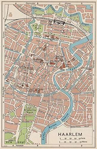 Amazon.com: HAARLEM. Vintage town city map plan. Netherlands - 1961 ...