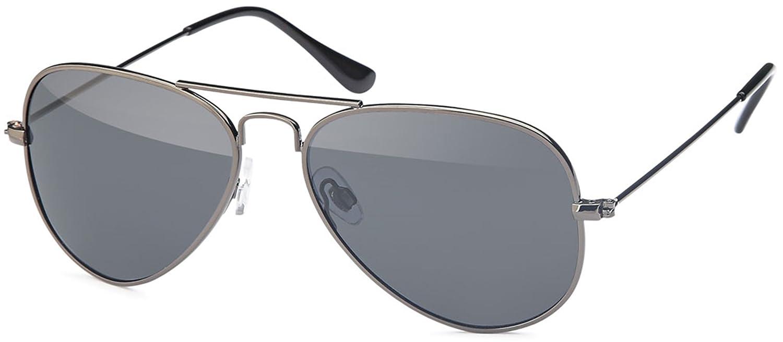 Kleine ovale Herren Sonnenbrille Edelstahl-Sonnenbrille UV400 Filter- Im Set mit Etui (anthrazitfarben) n68YR