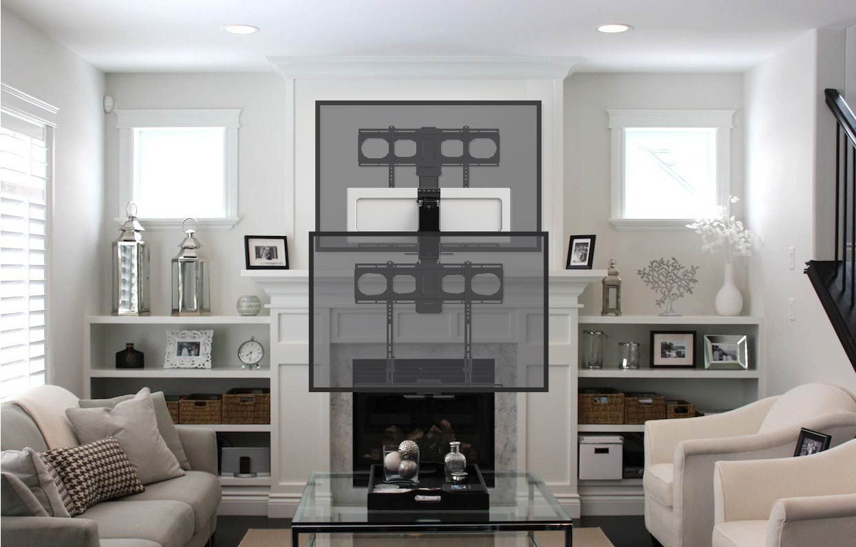 MantelMount MM540 Pull Down TV Mount Above Fireplace For 44''-80'' TVs Over Mantel by MantelMount