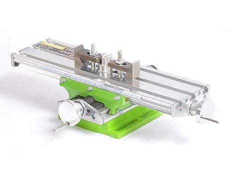 BG6330 Mesa Transversal de Precisión, Tabla Cruzada con Abrazaderas Banco de Tornillo en Cruz de Trabajo para Taladros, Fresadoras, CNC, etc. ...
