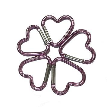 TOPIND 10pcs corazón de aleación de Aluminio mosquetón ...