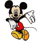 Parches - Mickey Mouse Disney cómico niños - negro/rojo - 8x6,2cm - by catch-the-patch® termoadhesivos bordados aplique para ropa
