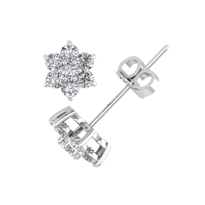 amazon 14k rose gold round diamond star flower shaped stud Diamond Teardrop Earrings amazon 14k rose gold round diamond star flower shaped stud earring 1 1 2 carat igi certified jewelry
