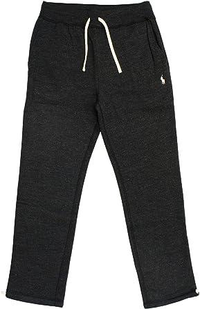 Polo Ralph Lauren Mens Fleece Running Pants Joggers (Small, Black Heather)
