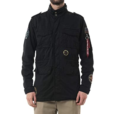 official photos a8837 5c99d Alpha Industries Herren Übergangsjacken Huntington Patch